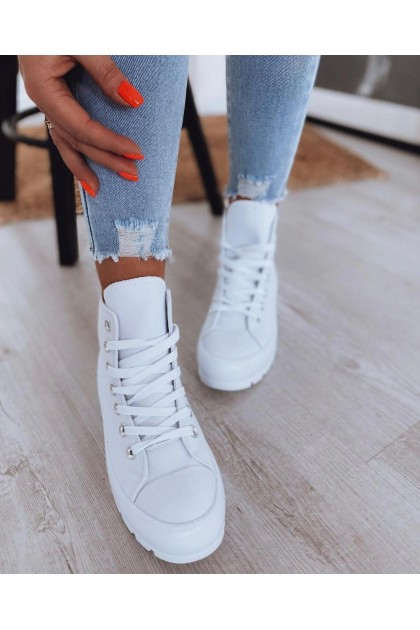 Women's High White Sneakers