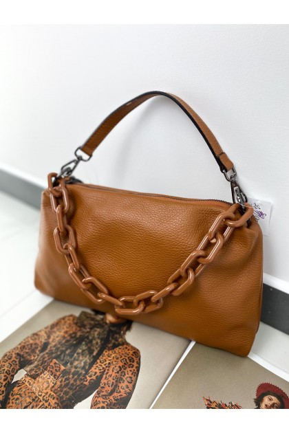 Women's ITALY Leather Bag Camel