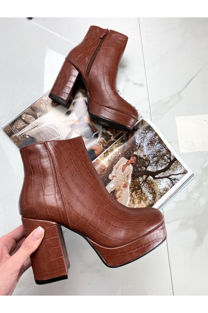 Women's Camel Reptile Boots