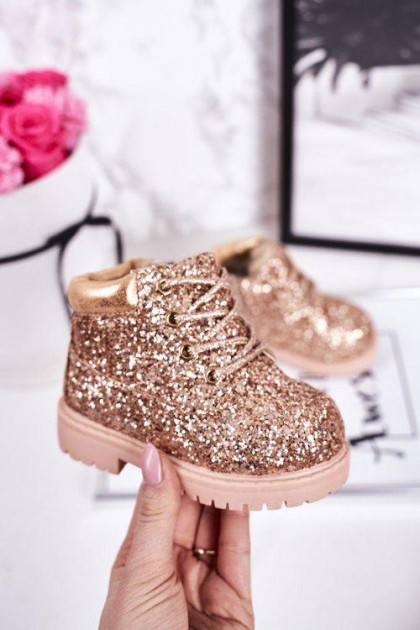 Children's Champagne Snow Boots