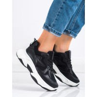 Women's Black and White Sport Shoes