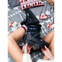Women's Blue And Black Snow Boots