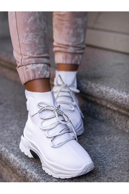 Women's White High Shoes