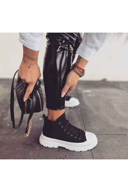 Women's Black and White Shoes