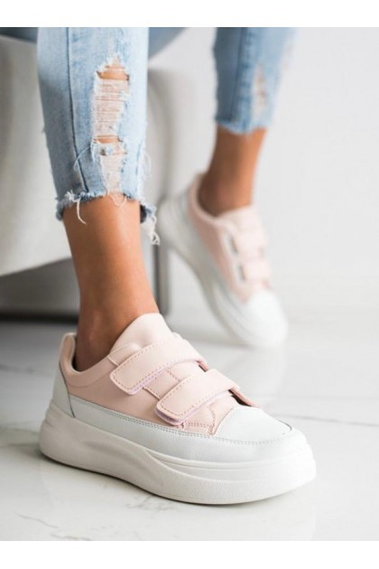 Women's Pink and White Sport Shoes