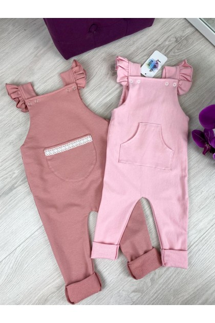 Children's Old Rose Overalls