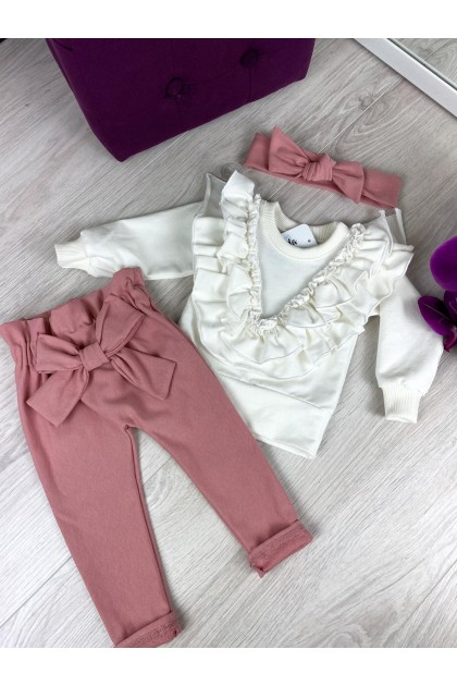 Children's White and Pink Suit