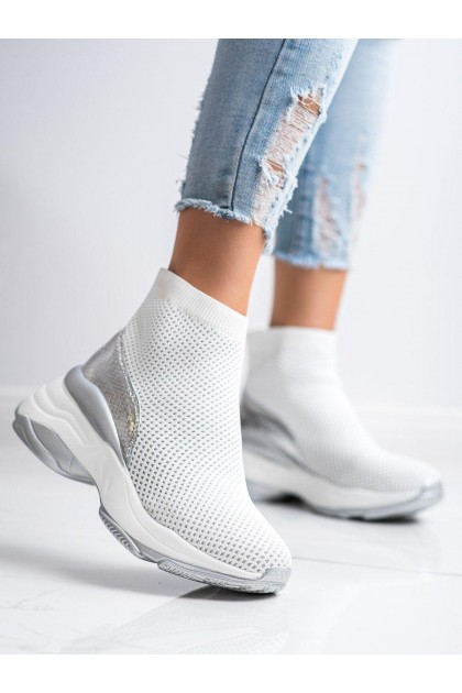 Women's White High Sport Shoes