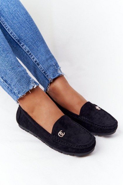 Women's Black Moccasins