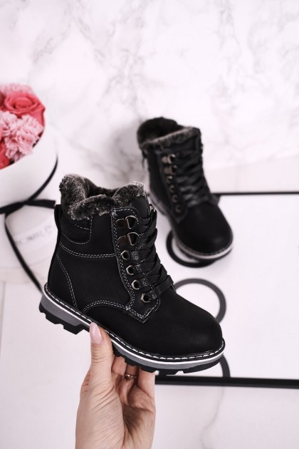 Children's Boots Insulated With Fur Black Luke