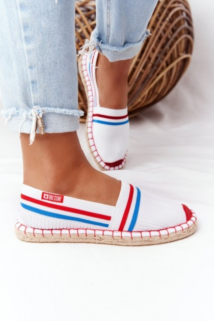Espadrilles On A Braided Sole Big Star HH274486 White