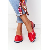 Women's Patent Leather Shoes Maciejka 05035-08 Red