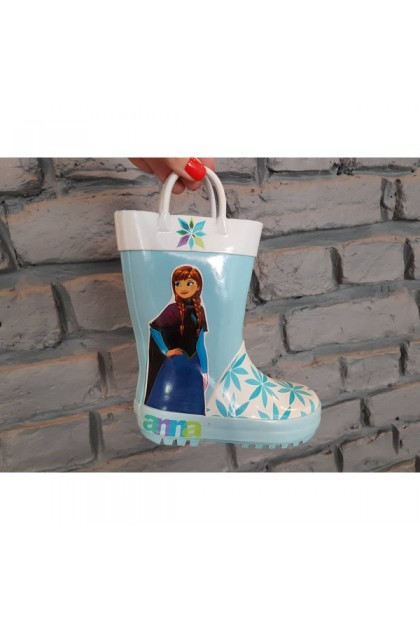 Children's Blue Galoshes With Elsa